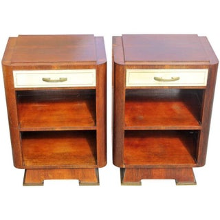 French Art Deco Palisander Nightstands - A Pair