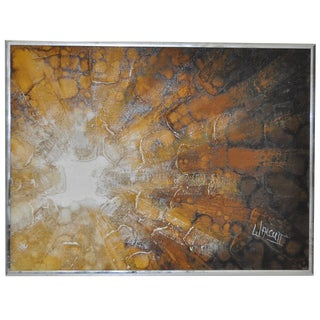 Frank Walcutt Abstract Oil on Canvas