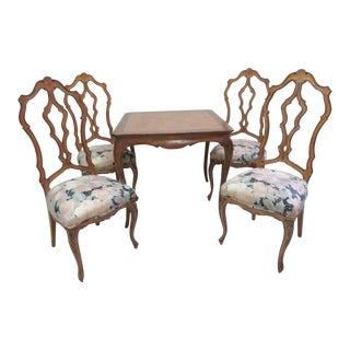 French Style Breakfast Nook Dining Set - 5 Pieces