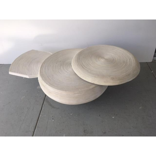 Gabriella Crespi Style Bamboo Swivel Coffee Table - Image 3 of 5