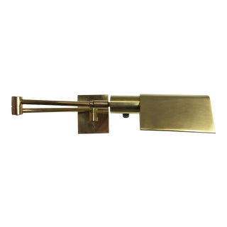 Koch + Lowy Articulating Brass Wall Sconce, 1960s