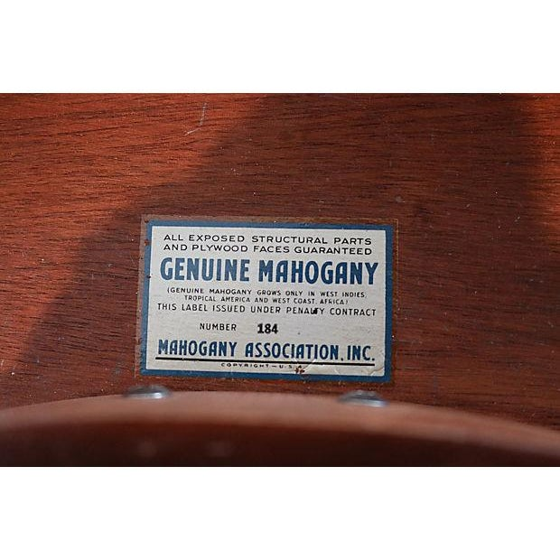 Mahogany & Leather Demilune Table - Image 9 of 9