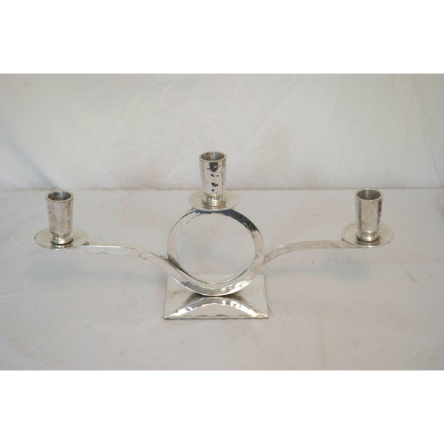 Restoration Hardware Silver Plate Candle Holders - A Pair - Image 4 of 4