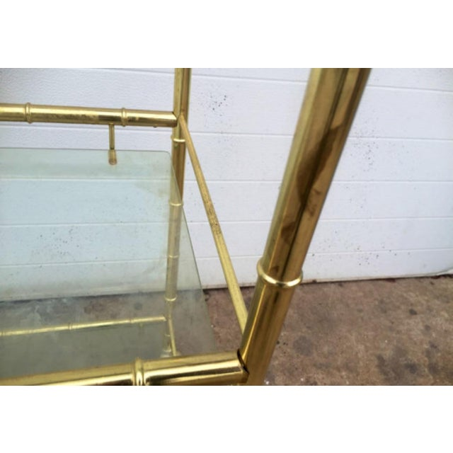Brass Faux Bamboo Bar Cart - Image 6 of 6