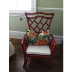Image of Vintage Red Rattan Accent Chair