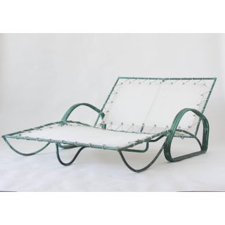 Rare Walter Lamb Two-Seat Bronze Chaise Lounge