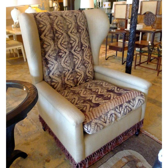 Bohemian Wingback Pair Chairs Early 20th Century - Image 5 of 10