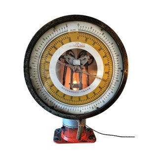 1930s Industrial Upcycled Scale Light