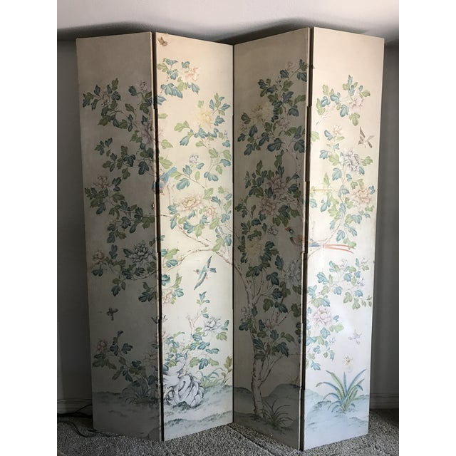 Gracie Chinoiserie 4 Panel Wallpaper Screen - Image 2 of 11
