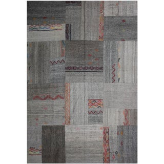 """Aara Rugs Inc. Hand Knotted Patchwork Kilim Rug - 8'10"""" X6'4"""""""