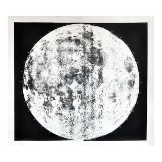 Unframed Silk-Screened Moon