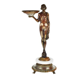 Art Deco Figural Lighted Ashtray Stand