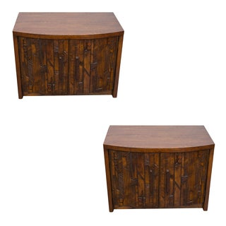 Lane Brutalist Nightstands - Pair