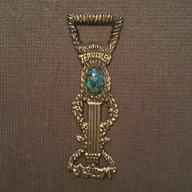 Antique Brass Jerusalem Bottle Opener - Image 2 of 5