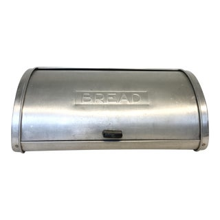 Vintage Stainless Roll Top Bread Box