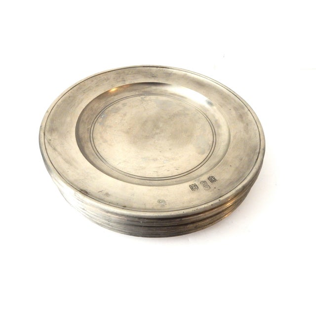 Traditional Pewter Sous Plats - Set of 10 - Image 6 of 9