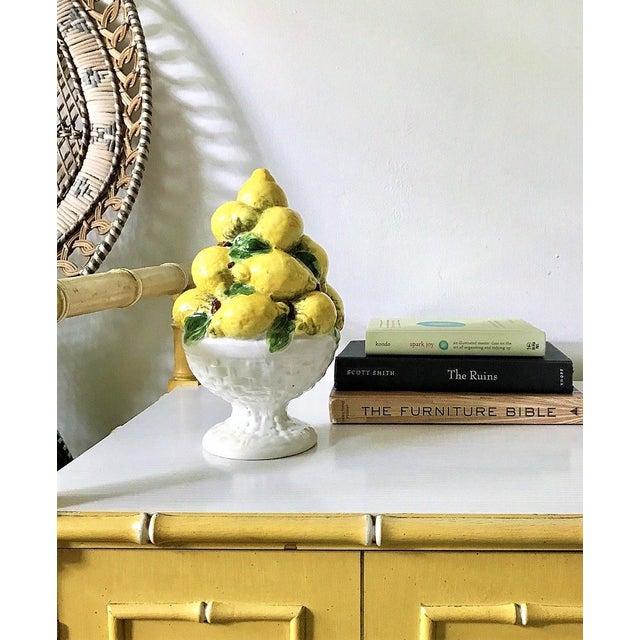Mid Century Italian Majolica Lemon Topiary - Image 3 of 11