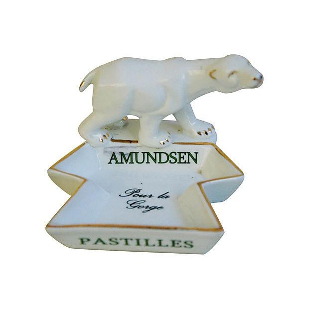 French Porcelain Amundsen Match Striker Ashtray - Image 2 of 7