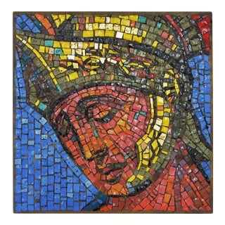 Rare Mosaic Wall Sculpture by Joseph Young for Saint Martin of Tours Church 1966 Mid Century Modern Art MCM Millennial