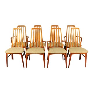 Niels Koefoed Danish Modern Solid Teak Dining Chairs - Set of 8
