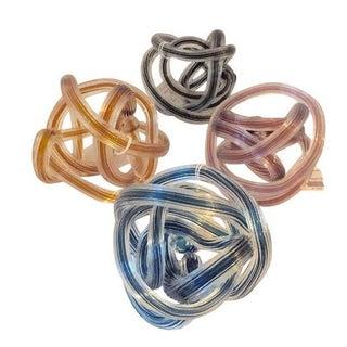 Multi Colored Murano Style Glass Knots - Set of 4
