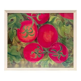 "Elizabeth E. Mitchell ""Tomatoes"" Mixed Media Painting"