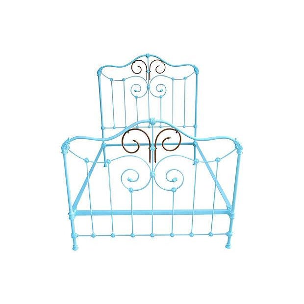 Antique Wrought Iron Bed Frame - A Full - Image 1 of 7