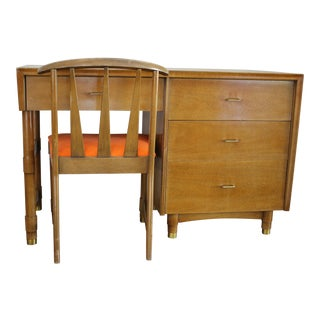 Kent Coffey Goldenaire Desk & Chair - A Pair