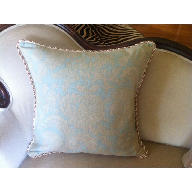 """Linen """"Watercolor"""" Pillow Cover w/ Silk Braid Welt - Image 2 of 3"""