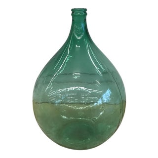 Green Glass Demijohn Bottle