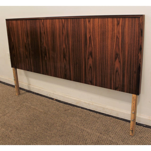 mid century danish modern teak queen full size headboard. Black Bedroom Furniture Sets. Home Design Ideas