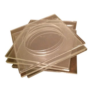 Modern Square Lucite Coasters - Set of 6