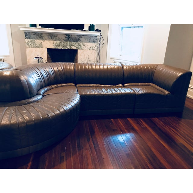 Roche Bobois Leather Sectional Sofa - Image 6 of 11