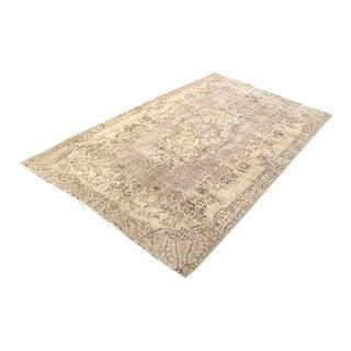 Floor Overdyed Beige Rug - 5′6″ × 9′1″