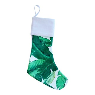 Custom Tropical Palm Leaf Christmas Stocking