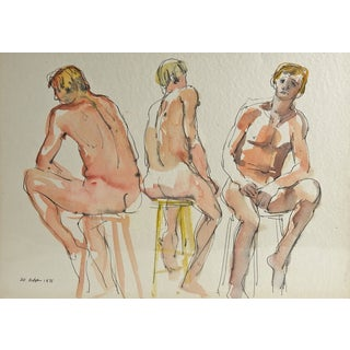 Studio Nude Watercolor by Paul Parker