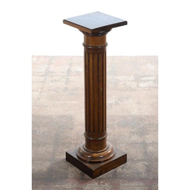 Antique Carved Colonial Walnut Pillar Pedestal - Image 2 of 10