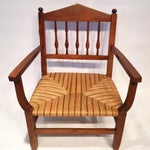 Image of Vintage Caned Armchair