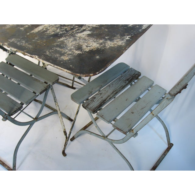 Antique French Bistro Dining Set - Image 4 of 8