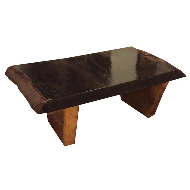 Dark Walnut Slab Coffee Table Chairish