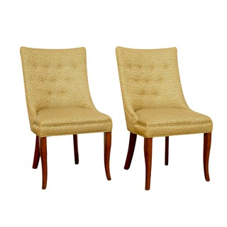 W.J. Sloane MCM Scoop Back Chairs - A Pair