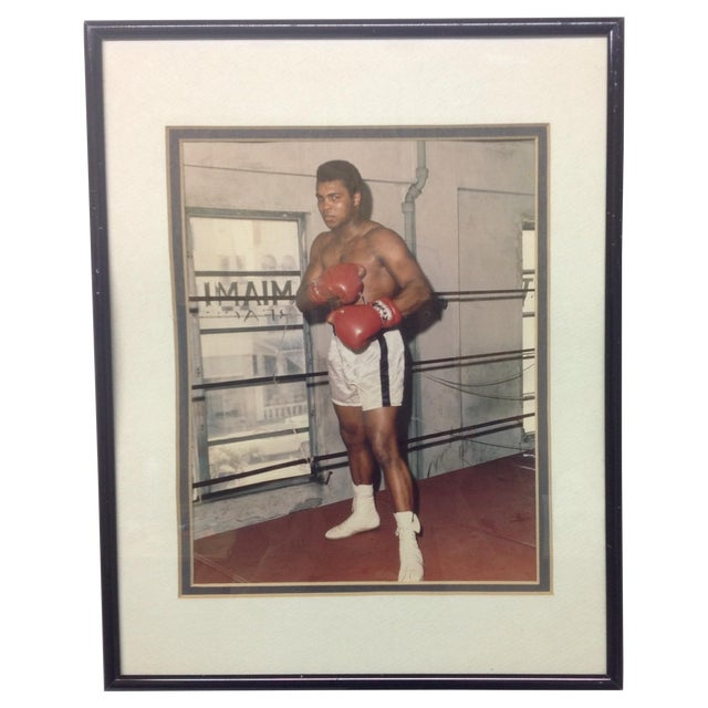 Image of Authentic Autographed Photo of Muhammad Ali, 1970s
