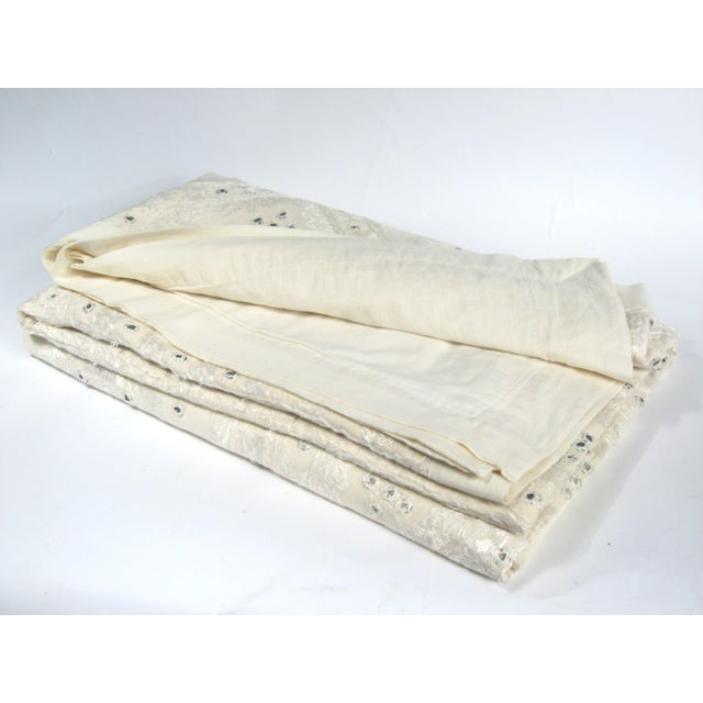 Indian Mirrored Cotton Coverlet - Image 8 of 8