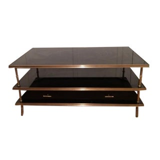 Black Tempered Glass Coffee & End Table