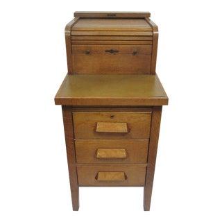 Antique Oak Cash Register Stand
