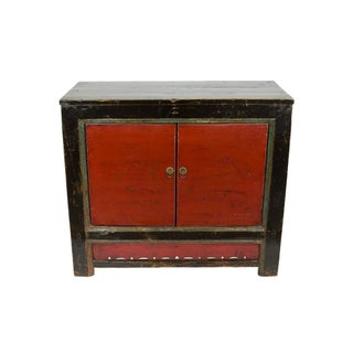 Antique Red Mongolian Chest