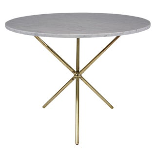 Mid-Century Modern Style Marble & Brass Table