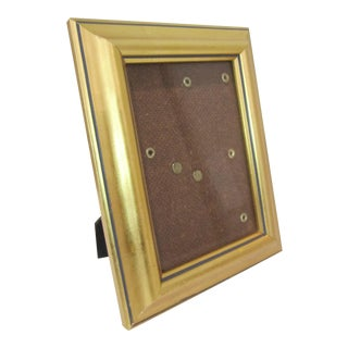 Wood Gold Frame with Blue Stripe