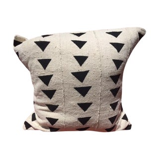 Black & White African Mudcloth Pillow