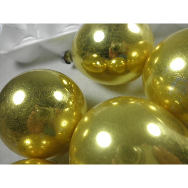 Image of Gold Glass Drop Ornaments - Set of 5